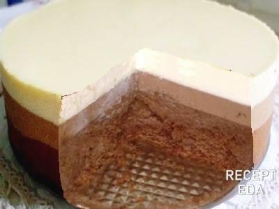Муссовый торт три шоколада: рецепт