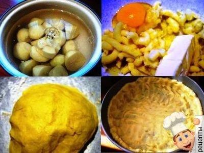 мясной пирог из картофельного теста