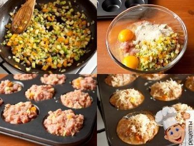 маффины с мясом, мясной кекс рецепт