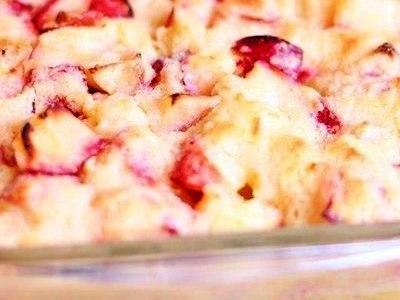 Пирог с яблоком и манкой насыпной