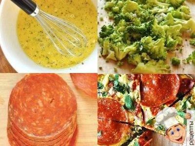 омлет с капустой брокколи и сыром