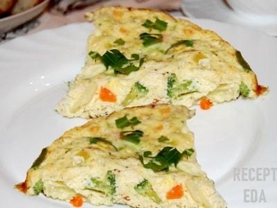 Омлет с овощами, рецепт