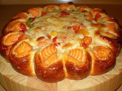 Рыбный пирог из дрожжевого теста, рецепт