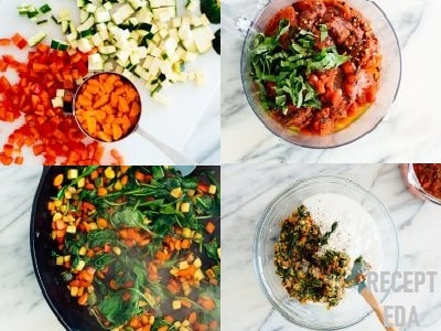 овощная лазанья с творогом рецепт