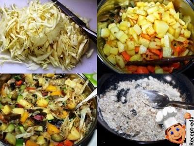 овощное рагу из баклажанов кабачков и капусты