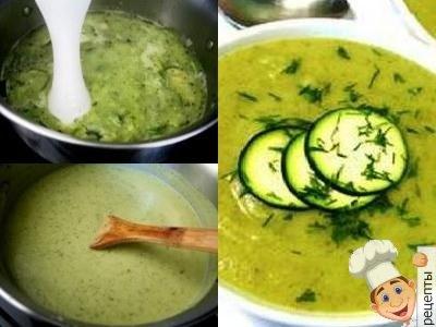 овощной суп пюре, рецепты из капусты и кабачков