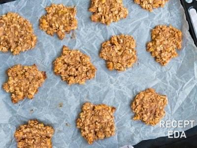 овсяное печенье без муки c грецкими орехами