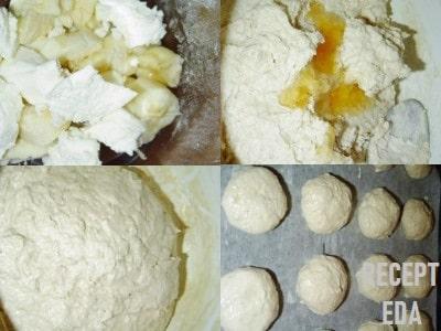 овсяное печенье с бананом и творогом рецепт