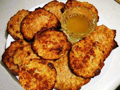Овсяное печенье с творогом, медом и изюмом