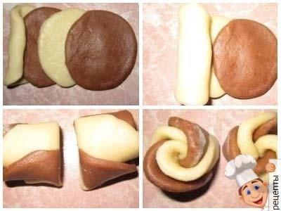 рецепт домашнего песочного печенья цветы из теста на маргарине и сметане