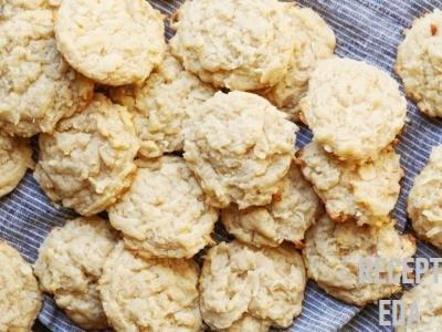 печенье из кокосовой стружки и творога