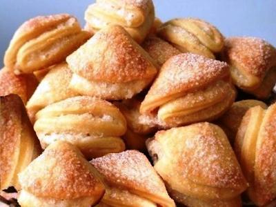 Печенье ушки из творога, рецепт творожных ушек