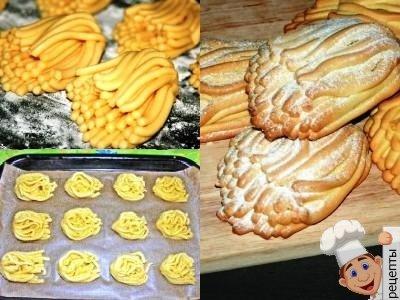 печенье хризантема через мясорубку рецепт