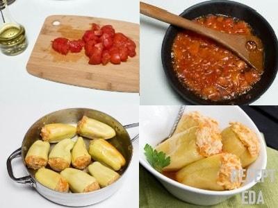 перец фаршированный морковью и рисом рецепт