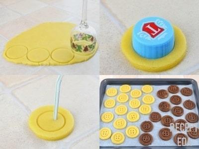 песочное печенье +на сливочном масле Пуговицы рецепт