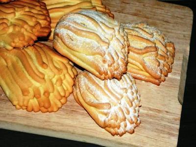 Печенье хризантема через мясорубку, рецепт