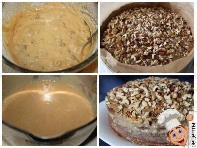 пирог с грецкими орехамии изюмом