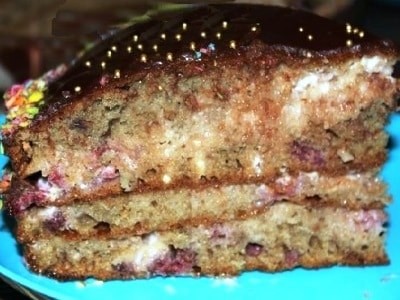 пирог трухлявый пень с малиновым вареньем