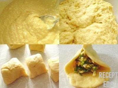 пирожки из творожного теста с кефиром