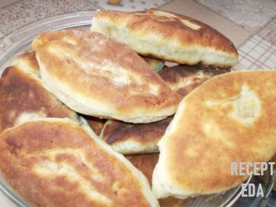 пирожки из творожного теста с мясом