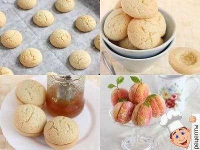 Пирожное Персики с кремом