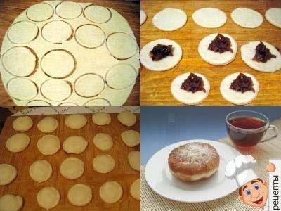 пончики дрожжевые жареные