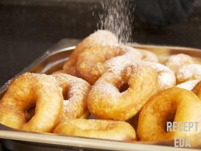 пончики во фритюре на молоке