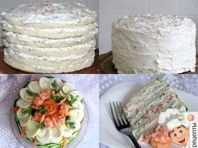закусочные тортысфото, рецепт закусочного торта