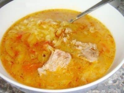 Суп харчо в домашних условиях с томатной пастой и аджикой