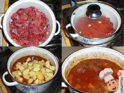 говяжье рагу с картошкой