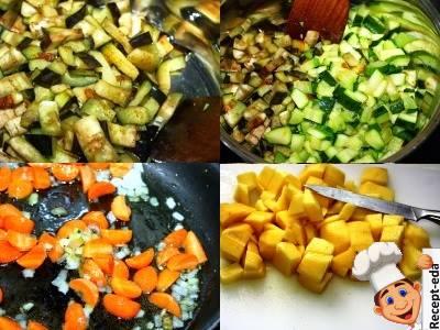 рагу из баклажанов кабачков и капусты с картошкой