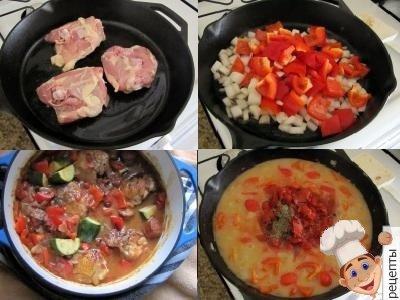 овощное рагу с курятиной