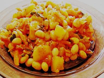 овощное рагу с фасолью и кабачками