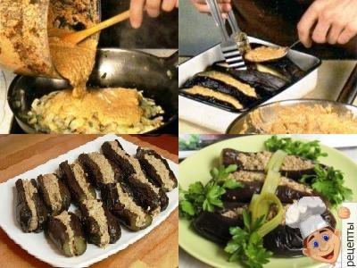 баклажаны с грецким орехом и чесноком