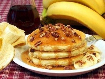 бананово овсяные оладьи, овсяные оладьи с бананом