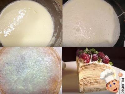 рецепт блинного торта сладкого