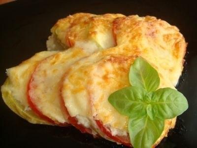 Кабачки, помидоры, картофель, запеченные в духовке с сыром