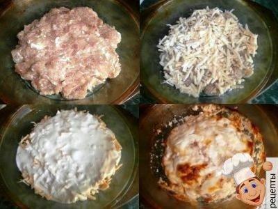 рецепт мясной запеканки из фарша в духовке