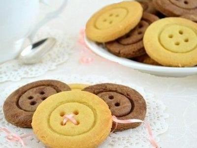 Рецепт песочного печенья Пуговицы на сливочном масле