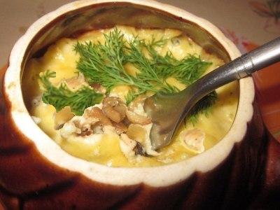 Жульен с курицей и грибами, рецепт