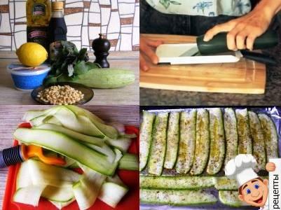 рецепт рулетиков из кабачков с творожным сыром
