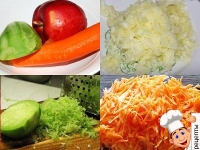 рецепт салата с редькой и яблоком