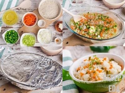 рис с морковкой и луком в духовке