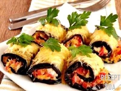 рулет из баклажанов с морковью по-корейски