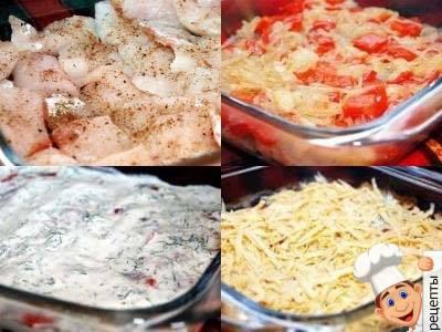рецепт рыбы в духовке с помидорами и сыром