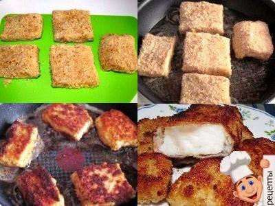 рыба в сухарях на сковороде