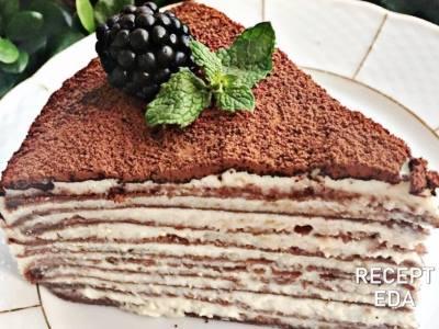 торт из блинов с маскарпоне