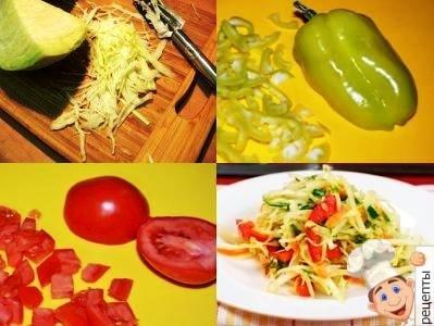 капустный салат с болгарским перцем и помидорами
