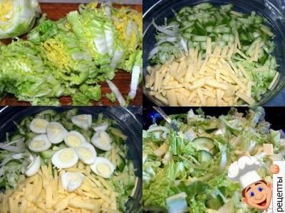 салат из пекинской капусты с яйцом и сыром