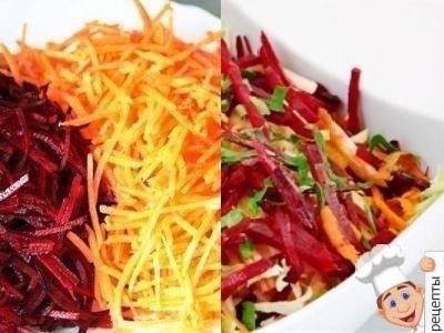 салат из сырой свеклы и моркови и капусты